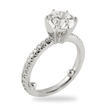 2.02 ct Round Diamond 14K White Gold Engagement Ring