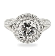Round Diamond Platinum Engagement Ring