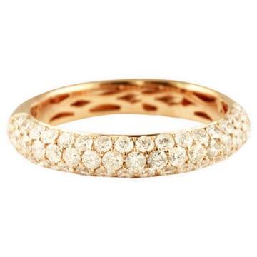 1.03 CT THREE-ROW DIAMOND HALFWAY WEDDING BAND