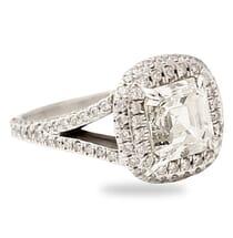 2.60 ct Asscher Cut Platinum Engagement Ring