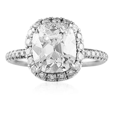 3.06 ct Cushion Diamond Platinum Engagement Ring