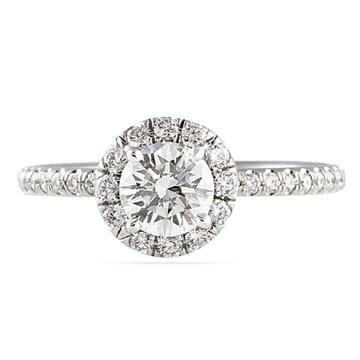 .71 ct Round Diamond Platinum Engagement Ring