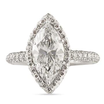 1.84 Carat Marquise Diamond Platinum Engagement Ring