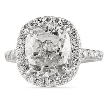 4.35 ct Cushion Diamond Platinum Engagement Ring