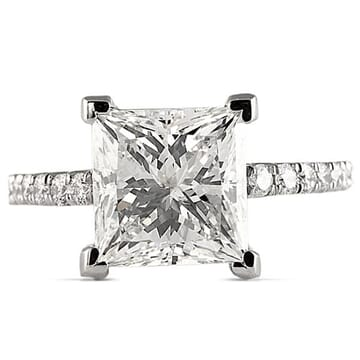3.50 ct Princess Cut Diamond Platinum Engagement Ring