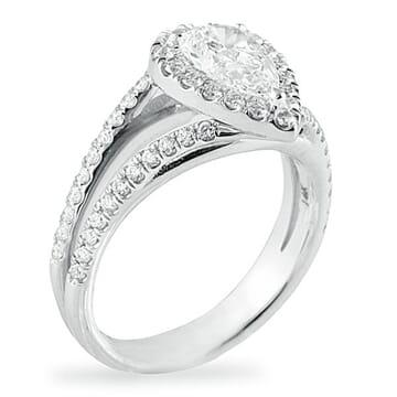 .84 ct Pear Diamond 14K White Gold Engagement Ring