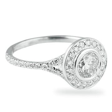 .68 ct Round Diamond 14K White Gold Engagement Ring