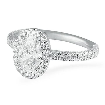 .78 ct Oval Diamond 14K White Gold Engagement Ring