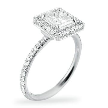 .70 ct Princess Cut Diamond 14K White Gold Engagement Ring
