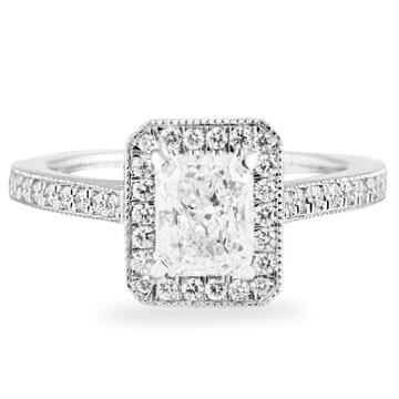 .81 CT RADIANT CUT DIAMOND 14K WHITE GOLD ENGAGEMENT RING