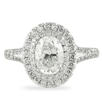 1.18 ct Oval Diamond Platinum Engagement Ring