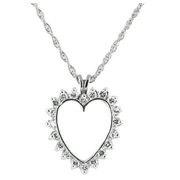 Diamond 14K White Gold Pendant Necklace