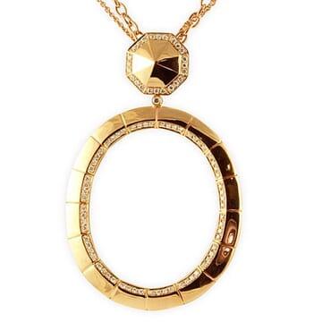 DIAMOND 18K ROSE GOLD NECKLACE