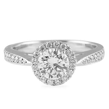 .73 ct Round Diamond 14K White Gold Engagement Ring