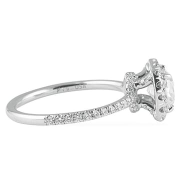 1.15 ct Cushion Diamond Platinum Engagement Ring