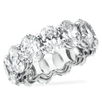 9.95 CT OVAL DIAMOND PLATINUM ETERNITY BAND