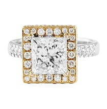 2.54 ct Princess Cut Diamond Engagement Ring