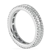 1.4 CT ROUND AND BAGUETTE DIAMOND 3-ROW ETERNITY BAND