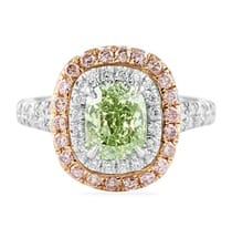 1.55 ct Fancy Intense Green Diamond Engagement Ring