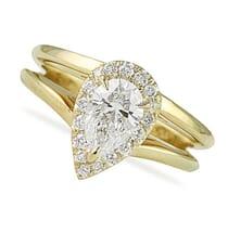 .80 ct Pear Shape Diamond Yellow Gold Engagement Ring