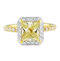 1.51 ct Princess Cut Engagement Ring