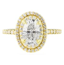 1.20 ct Oval Diamond Yellow Gold Engagement Ring