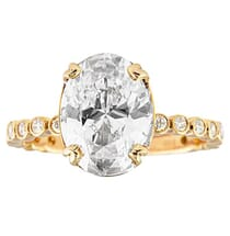 2.40 ct Oval Diamond Rose Gold Engagement Ring
