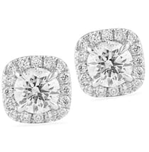 1.36 Carat Tw Diamond Halo Studs