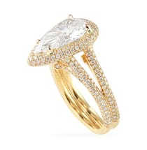 2.57 ct Pear Shape Rose Gold Engagement Ring