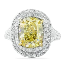 4.02 Carat Yellow Diamond Engagement Ring