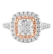 1.25 Carat Cushion Cut Platinum Engagement Ring