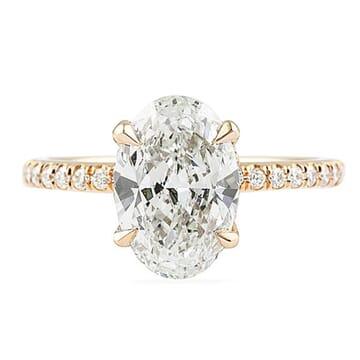 2.20 Carat Oval Diamond Rose Gold Engagement Ring