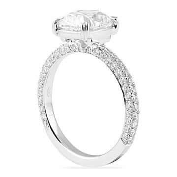 2.40 Carat Cushion Cut Platinum Engagement Ring