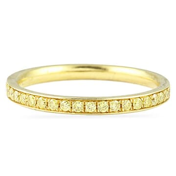 Yellow Diamond Yellow Gold Eternity Band Ring