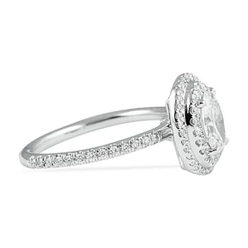 0.67 Carat Oval White Gold Engagement Ring