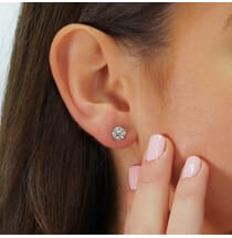 1.68 Carat Total Weight Diamond Stud Earrings