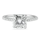 1.55 ct Cushion Cut Diamond Pave Engagement Ring