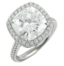 11MM CUSHION CUT MOISSANITE IN HALO RING