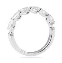 OVAL DIAMOND WEDDING BAND RING HALFWAY