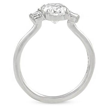 1.40 carat Antique Cushion Diamond Three-Stone Ring