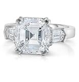 5.01 ct Asscher cut Diamond Engagement Ring