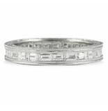 1.75 CT ROUND AND BAGUETTE DIAMOND MULTI-ROW ETERNITY BAND