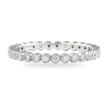0.50 Carat Round Diamond Bezel Set Eternity Band