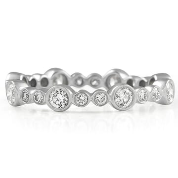 Alternating Size Diamond Bezel Set Eternity Band