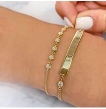 Round Diamond Bezel Chain Bracelet