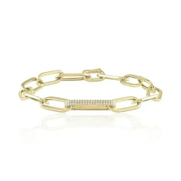 Jumbo Chain Link Bracelet yellow gold jewelry