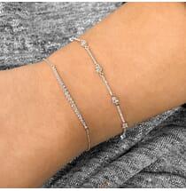 Graduated Bezel Set Bracelet white gold pave diamonds