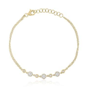 Diamond Cluster Pendant yellow gold