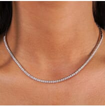 2.48 CT DIAMOND CHOKER STYLE TENNIS NECKLACE