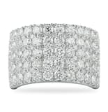 "3.90 CT ROUND DIAMOND WIDE ""CIGAR BAND"""